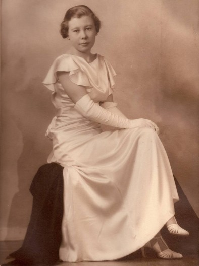 Violet Milligan at 17--later my very strong mother